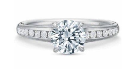 $10,000.00  FlushFit™ Diamond Princess Channel Engagement Ring