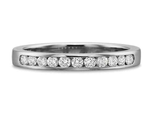 $10,000.00 .25ctw Diamond Round Channel Set Band