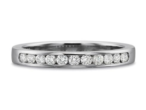 $10,000.00 .25ctw Diamond Round Channel Set Band