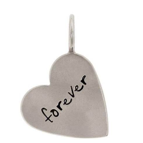 "$118.00 SS ""Forever"" Heart Charm"