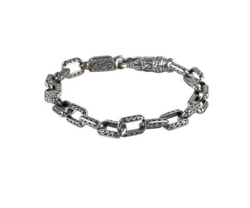 Mens Sterking Silver Link Bracelet