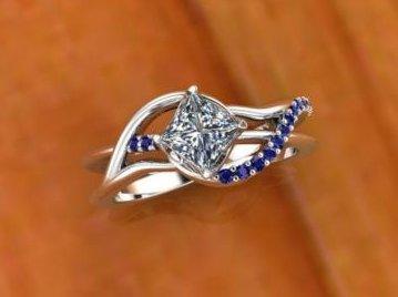$0.00 Sapphire Freeform Ring
