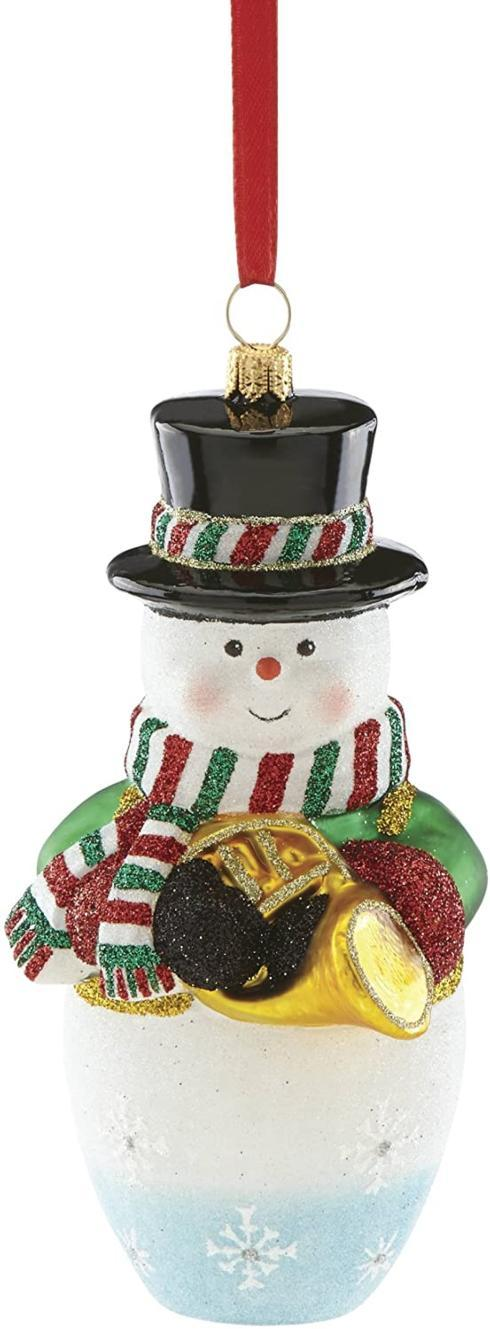 $49.97 SNOWMAN with FRENCH HORN Ornament