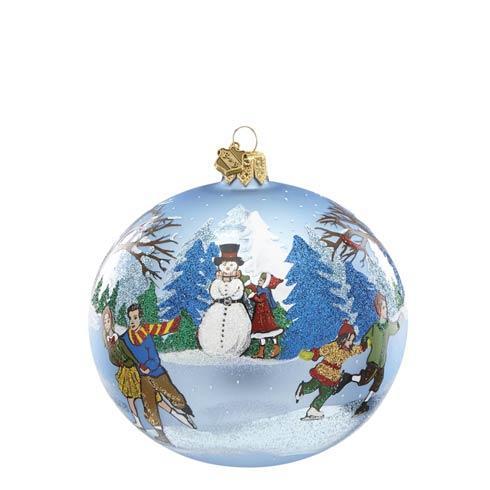 $49.97 SNOW DAYS SKATERS SCENE Ornament
