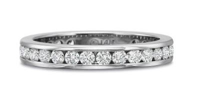 Full Round Diamond Channel Set Band