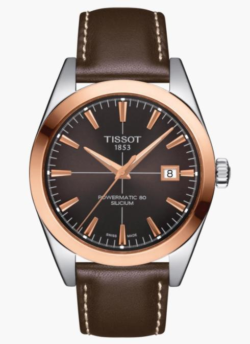 TISSOT Gentleman Powermatic 80 Silicium Solid Rose Gold Bezel