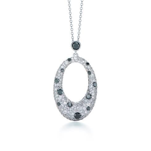 $6,150.00 Cobblestone Diamond Pendant Necklace