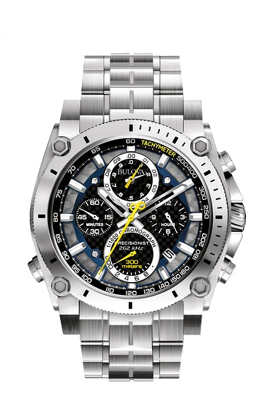 $693.75 Gts Chronograph grey/Black with Yellow Accents