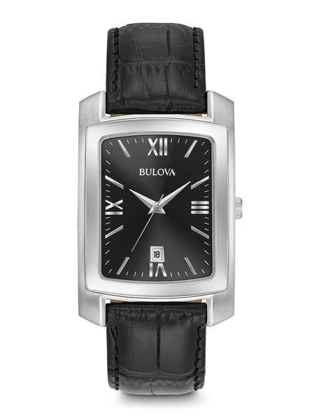 $168.75 Men's Classic Rectangular face black strap watch