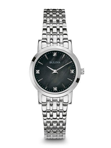 $275.00 Ladies stainless steel watch with diamonds