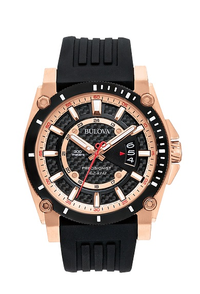 $431.25 Gts Rose with Black Rubber Strap