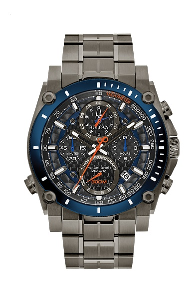 $746.25 Gts Chronograph Grey/Blue with Orange Accents