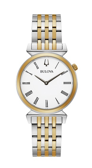 Lds Two Tone White Dial