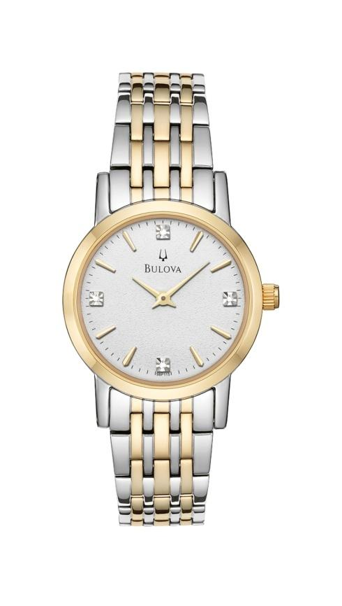 $243.75 Ladies thin two tone with diamonds