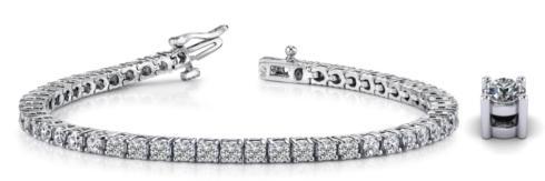$7,750.00 18kw Round Cultured Diamond Bracelet 7ctw
