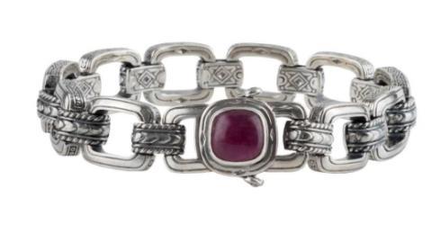 Sterling Silver Ruby Root Bracelet