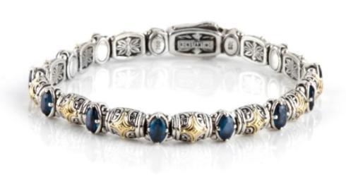 Sterling Silver & 18k Gold Dotted Bracelet