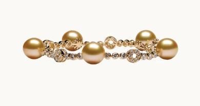 $1.00 Bollicine Golden Pearl and Diamond Bracelet