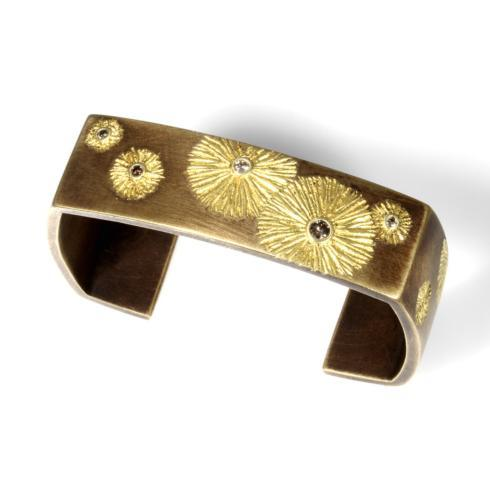 $1,056.00 Bronze and 18ky Gilded Bracelet Cuff