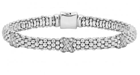 Diamond X station bracelet