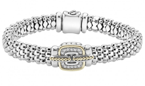 $1,200.00 Cushion diamond Caviar bracelet