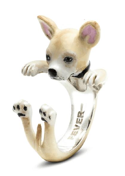 $360.00 ENAMEL HUG RING - CHIHUAHUA