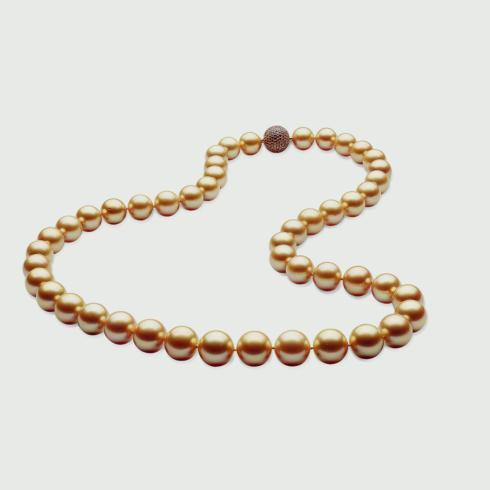 43 9-11 mm golden off round pearls 18.5""