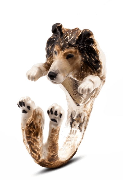 $360.00 ENAMEL HUG RING - COLLIE