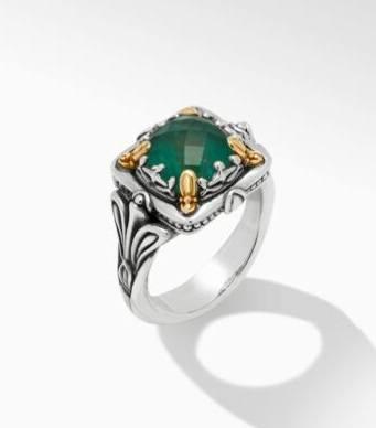 $495.00 Green Aventurine DBLT Ring