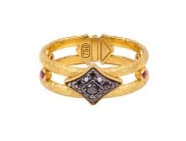 $1,450.00 Black Diamond Star Crown Ring