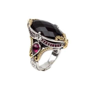 $1,085.00 Sterling Silver & 18k Gold Ring