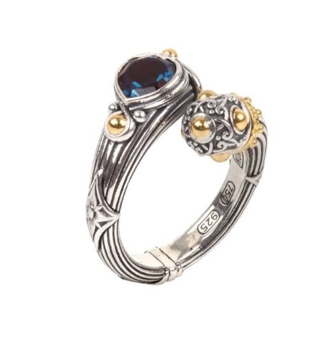 $480.00 Sterling Silver and 18k Ring