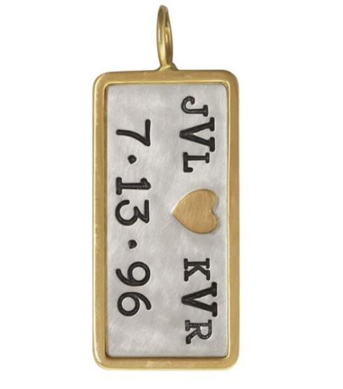 $571.00 Double Monogram And Date ID Tag