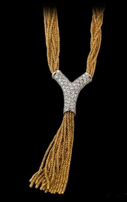 YURI ICHIHASHI  18ky and Platinum Diamond Necklace