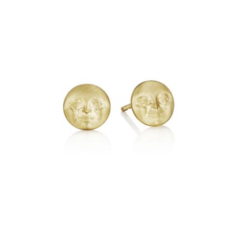 $575.00 Moonface Stud Earrings (7mm)
