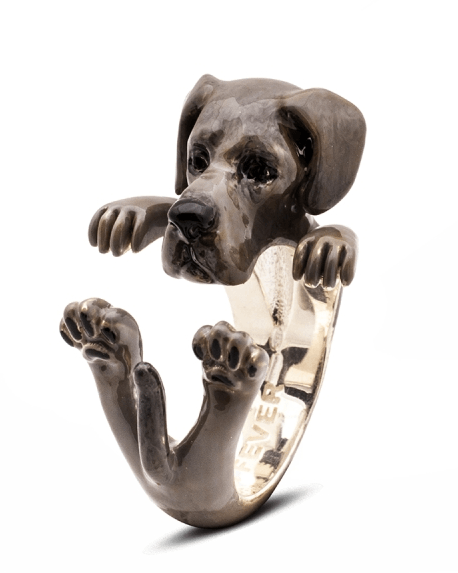 $360.00 ENAMEL HUG RING - GREAT DANE
