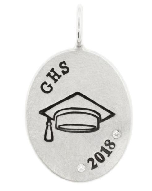 $320.00 Graduation Oval Charm