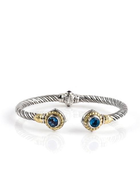 $970.00 London Blue Topaz Hinged Bracelet