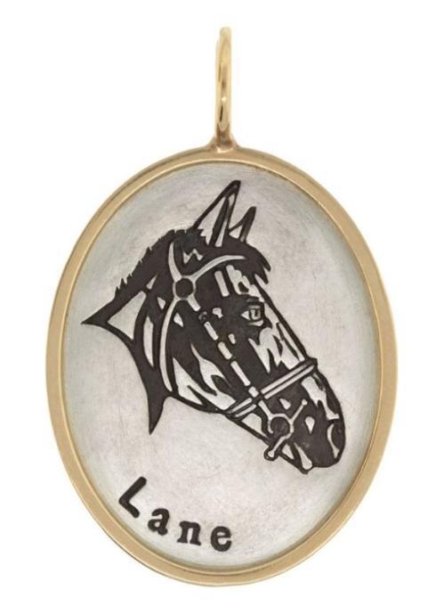 $1,195.00 Horse Portrait Oval Charm