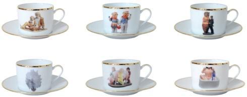 Tea Cup and Saucer Set of 6
