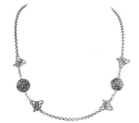 Sterling Silver Necklace with Spinel