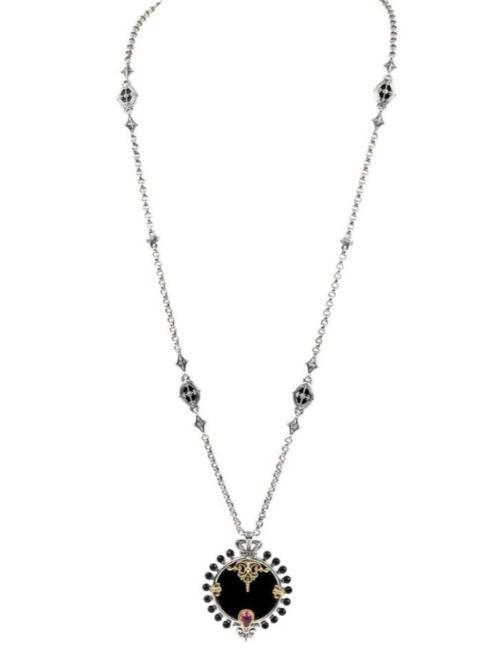 $1,365.00 Sterling Silver & 18k Gold Necklace