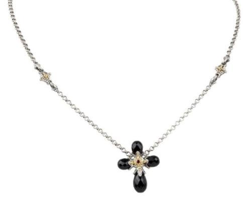 $390.00 Sterling Silver & 18k Gold Necklace