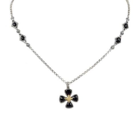 $420.00 Sterling Silver & 18k Gold Necklace