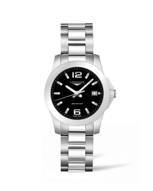 $750.00 CONQUEST 34mm Black Dial