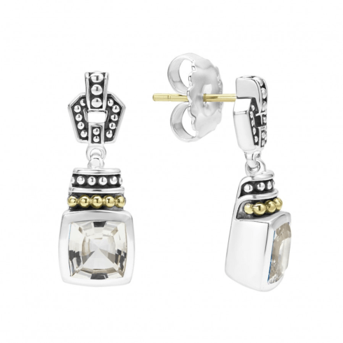 $495.00 White Topaz Drop Earrings