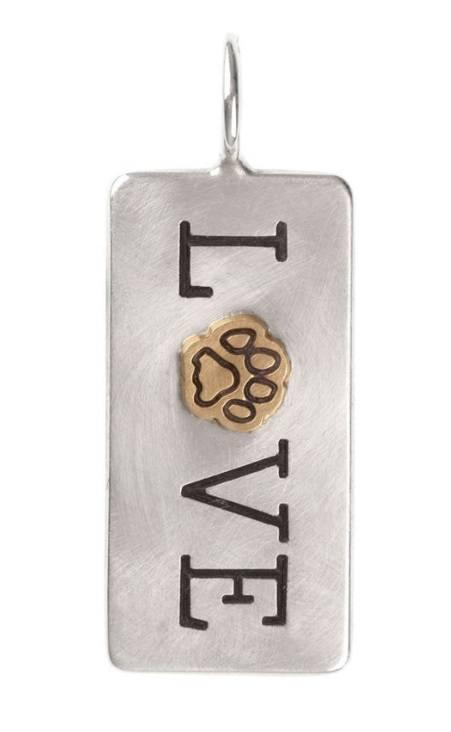 $384.00 Love Paw Print ID Tag