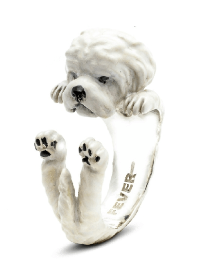 $360.00 ENAMEL HUG RING - MALTESE
