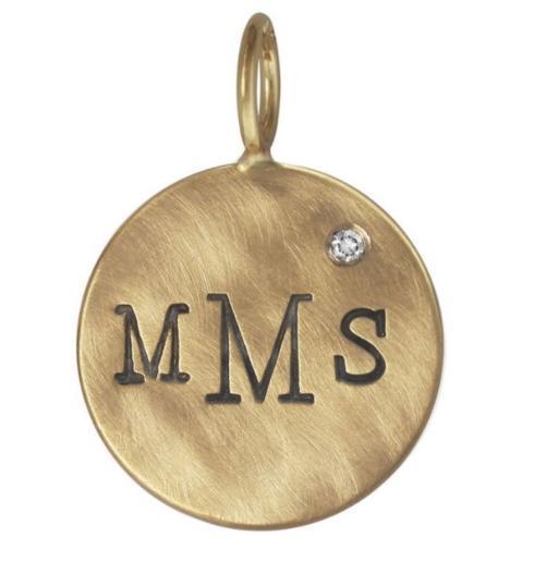 $573.00 Monogram Round Charm