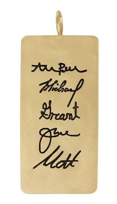 $3,055.00 Multiple Handwritten Signatures ID Tag